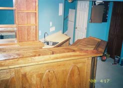 Front view of bar & sink area