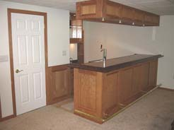 Red oak bar & bulkhead