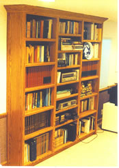 Red oak bookcases