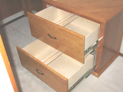 Two rows of files in each drawer