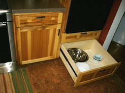 Drawers under oven