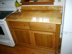 Stand-alone cabinet with maple counter top